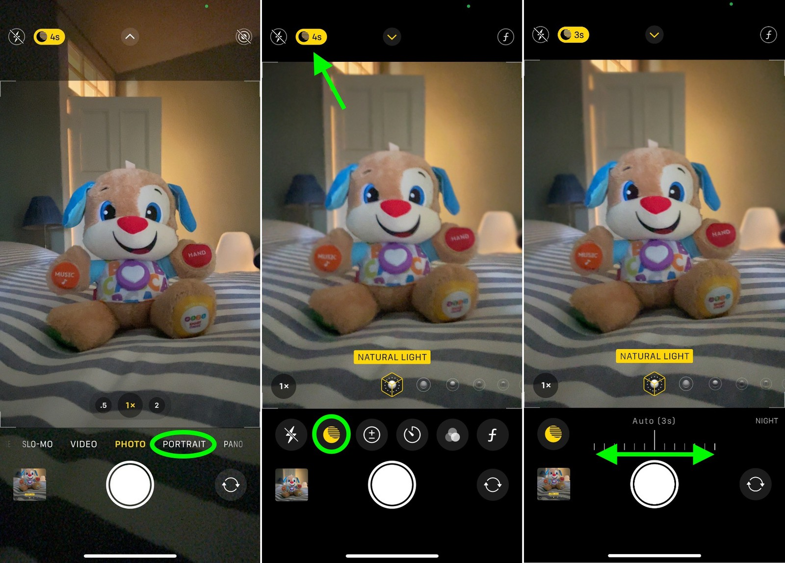 use night mode with portrait photo on iPhone 12 Pro