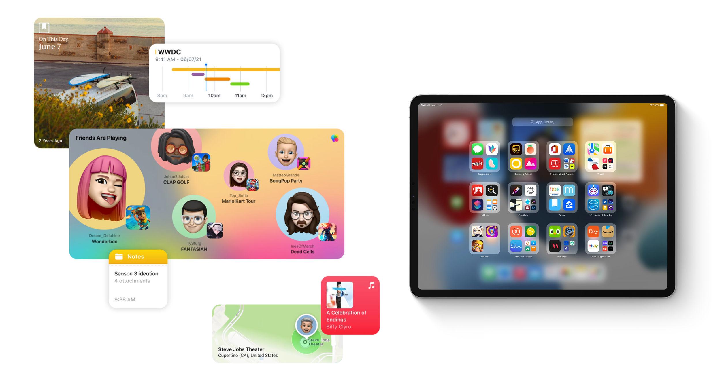 Widgets và App Library trên iPadOS 15