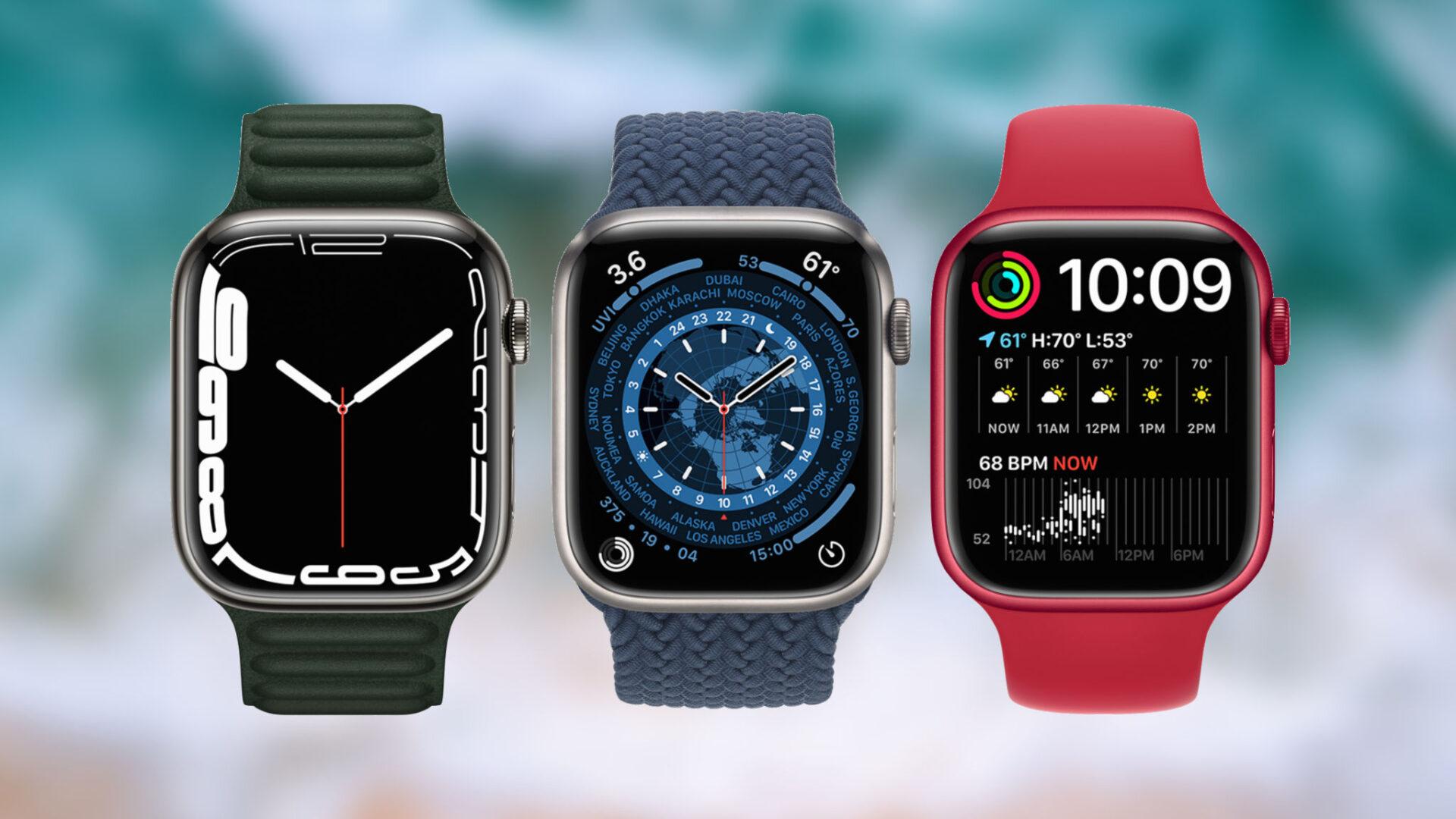 Những mặt đồng hồ mới độc quyền cho Apple Watch Series 7