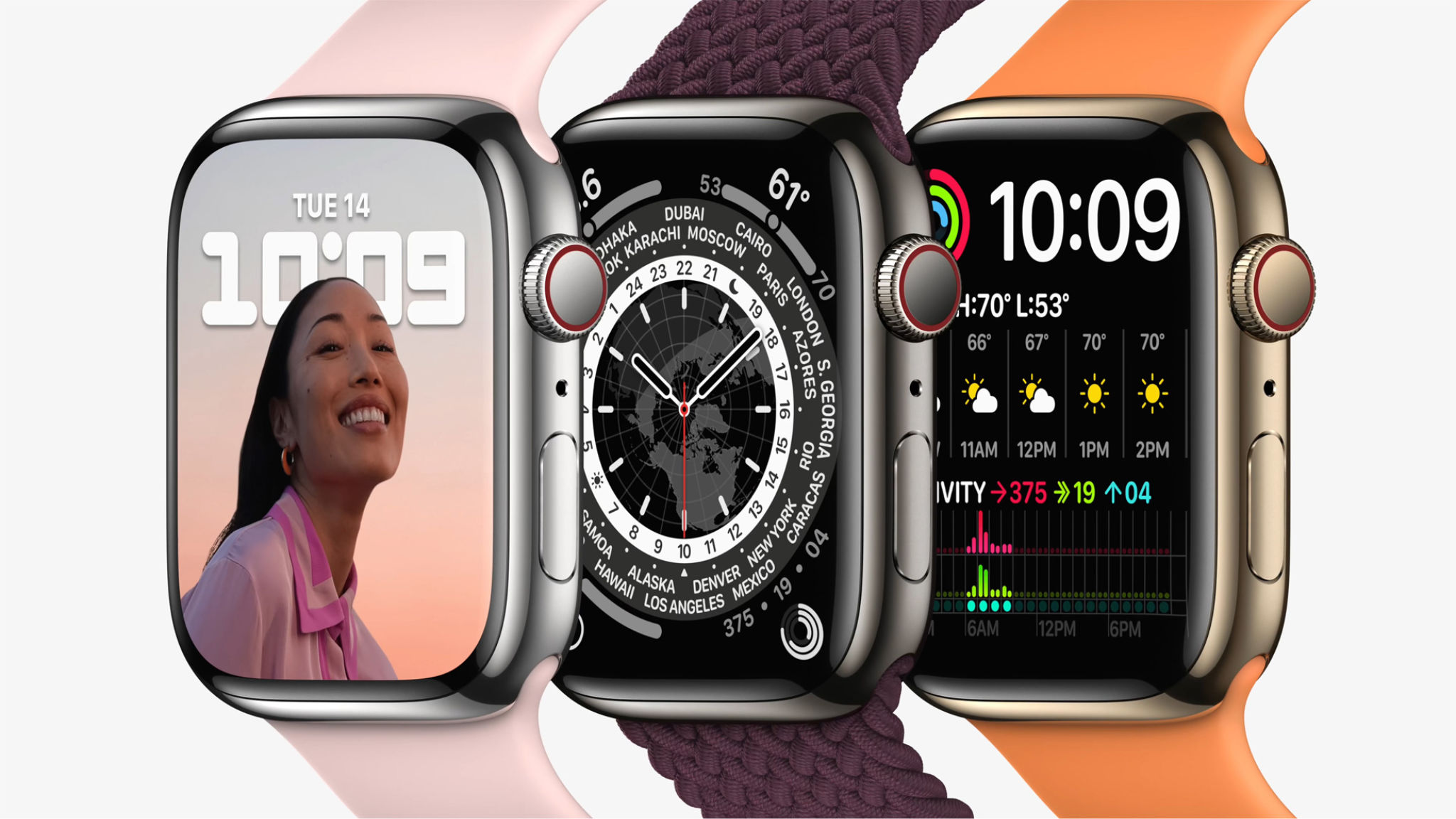 Apple Watch Series 7 có màn hình tràn viền, thiết kế không đổi